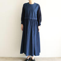 COSMIC WONDER /Beautiful organic cotton monastery dress(lady's /Ryukyu Indigo)