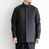 AURALEE / SUVIN HIGH COUNT CLOTH QUILTING SHIRTS(Men's/BLACK)
