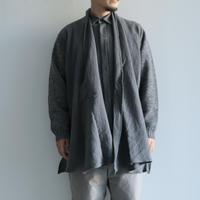 COSMIC WONDER / Beautiful linen wool knit cardigan(men's/Gray)