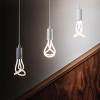 PLUMEN 001 LED + DROP CAP PENDANT WHITE | 器具+電球セット