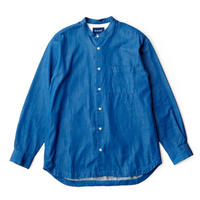 ANDY Good neighbors Band Collar Shirts -OCEAN-