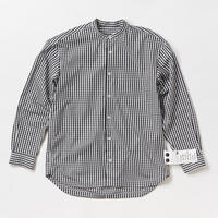 KATE BAND COLLAR SHIRTS  -GINGHAM-
