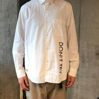 BUKOWSKI REGULAR COLLAR SHIRTS -WHITE-