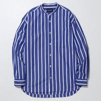 LIAM BAND COLLAR SHIRT-SEA-