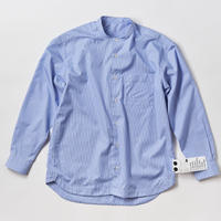 KATE BAND COLLAR SHIRTS  -SKY-
