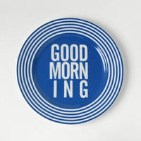GOOD MORNING DISH PLATE -BLUE-