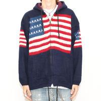 American Flag Knit Hoodie