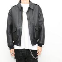 A-2 Black Leather Jacket