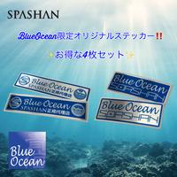 BlueOcean限定オリジナルステッカー4枚セット