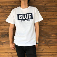 "BASIC T-SHIRT  ""LOGO-B"" 【WHITE-NAVY】/ BS-S4-CSP02-wh-nv"