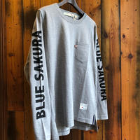 "LONG SLEEVE POCKET T-SHIRT  ""LOGO""【GRAY】/ BS-LCS3-1"
