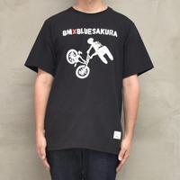 BMX×BLUE SAKURA BASIC T-SHIRT【BLACK】/ BS-CSP-BMX-02-BK