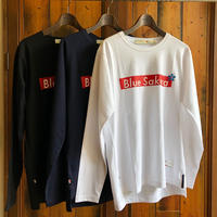 "STEP L/S T-SHIRT ""BOX-LOGO""【WHITE】/ BS-LCSP03-01-WH"