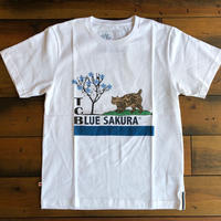 TCB × BLUE SAKURA collaboration T-shirts【WHITE】/ TCB×BS-CS1 / WH