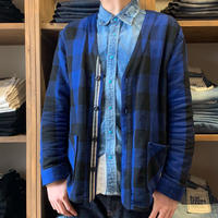 CLASSIC VINTAGE CHECK CARDIGAN / BS-CD02 【BLUE】