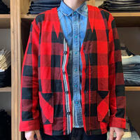 CLASSIC VINTAGE CHECK CARDIGAN / BS-CD02 【RED】