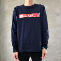 "STEP L/S T-SHIRT ""BOX-LOGO""【NAVY】/ BS-LCSP03-01-NV"