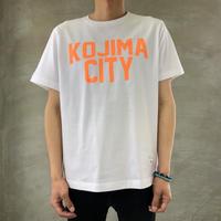 KOJIMA CITY PRINT T-SHIRT 【WHITE-ORANGE】/ BS-CSP1-wh-or