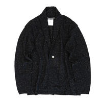 JAZZ NEPP WOOL CARDIGAN /  BLACK / 14B19KN14KG