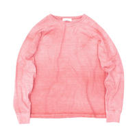 PIGMENT DYED HEAVY JERSEY PULLOVER /  RED  / 14B19CN20FB
