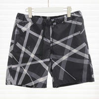 UNRAVEL CHECK TRACK SHORTS / BLACK / 05B15P03KY