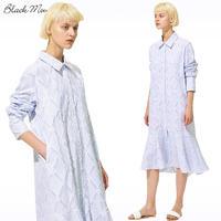 ストライプジャカードシャツワンピース    c/#BLUE×WHITE   55683-138