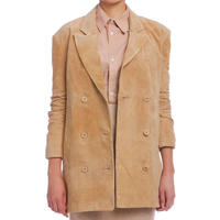 本革  スエードボックスジャケット  c/#CAMEL  41102-123