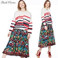 フラワー刺繍チュールスカート   c/#NAVY  75614-009