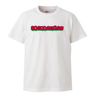 BOKUDANGANアメコミ風ロゴTシャツ ホワイト