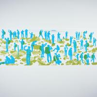 手拭い【 茅ヶ岳山頂 】 ブルー
