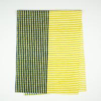 手拭い【 縞々格子 】芥子 × 紺鉄