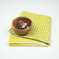 手拭い【 縞々格子 】芥子 × 灰