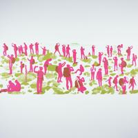 手拭い【 茅ヶ岳山頂 】 ピンク