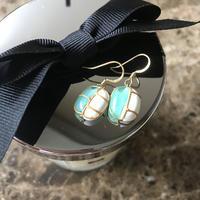即納★アレルギーフリー glass pierced earring