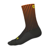DOTS SOCKS H18 (BLACK - ORANGE / 1802-1920P-01)
