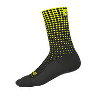 DOTS  SOCKS H18 (BLACK - FLUO YELLOW / 1802-1920N-01)