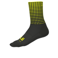 DOTS SUMMER SOCKS BLACK/FLUO YELLOW(1802-20110-00)