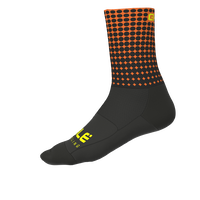 DOTS SUMMER SOCKS BLACK/FLUO ORANGE(1802-20112-00)