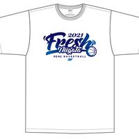 【限定受注販売】新潟県フレッシュU10バスケットボール2021大会記念(白)Tシャツ(出場全チーム名入り)