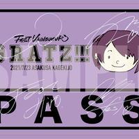 『Gratz!!!』GAKU's Day記念パスステッカー(サイン有)