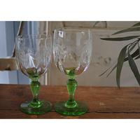 アンティークワイングラス・Portieux