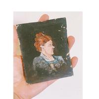 18世紀FRANCE 小さな油絵マダム