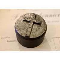 アンティークメダイ型・薔薇の十字架凸