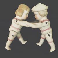 bisque doll 男の子と女の子