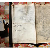 La Loire  ロワール川1012kmの地図(1889年)