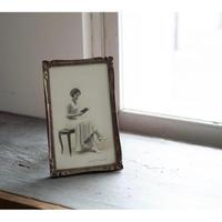 Antique額縁・読書する女性・h24.5cm