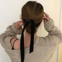 【即納】velvet ribbon hair band