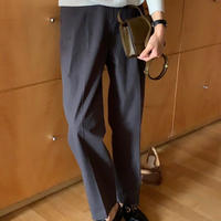 【予約販売】crop pin tuck pants