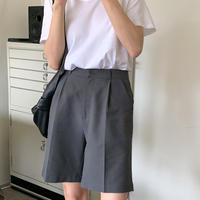 【即納】linen half pants