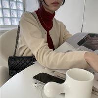 【即納】square cardigan